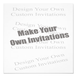 Create Your Own 5 x 5 Personalized 5.25x5.25 Square Paper Invitation Card