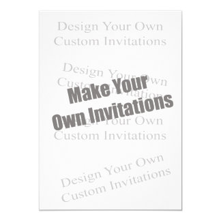 Create Your Own 5 x 7  Personalized 5x7 Paper Invitation Card