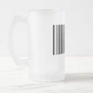 Create Your Own 6 Letters Frosted Glass Beer Mug