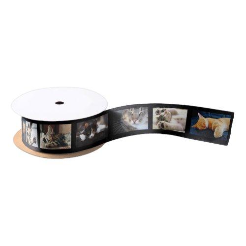 Create Your Own 6 Photo Collage Black Film Strip Satin Ribbon