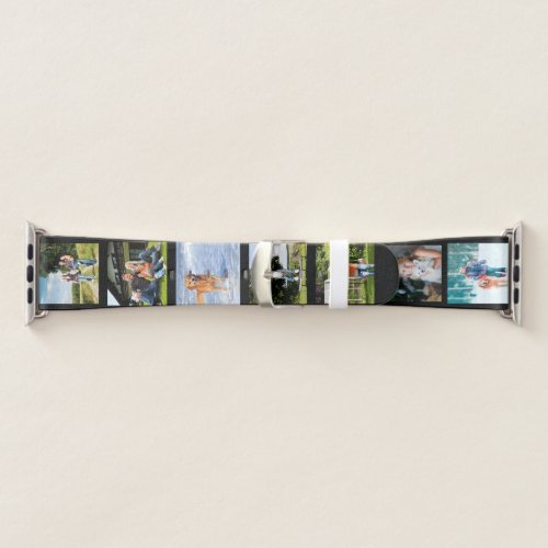 Create your own 7 Square Photos on Black Apple Watch Band