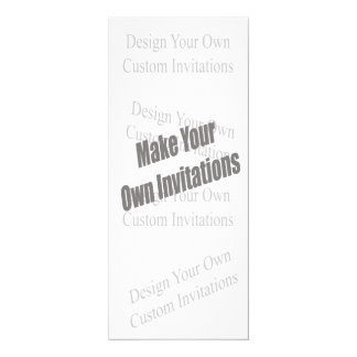 Create Your Own 9.25 x 4 Personalized 4x9.25 Paper Invitation Card