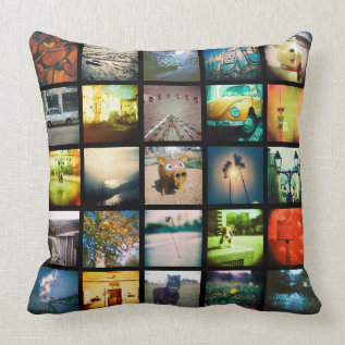 Create Your Own A Unique And Original Instagram Throw Pillow at Zazzle