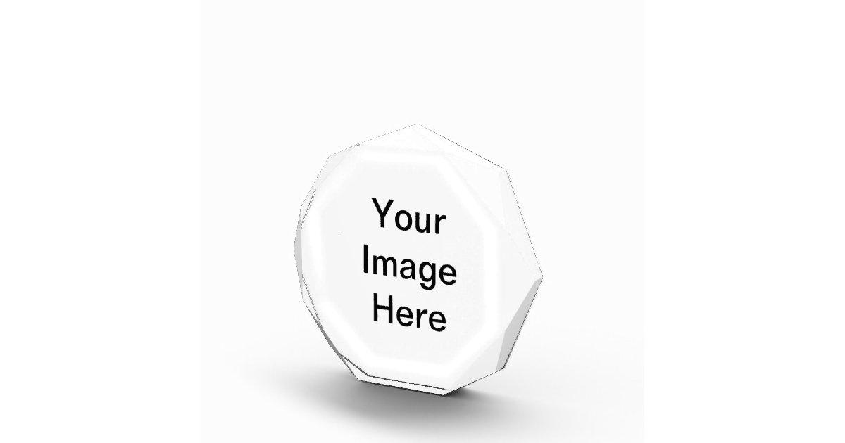 Create Your Own Acrylic Octagon Awards Zazzle