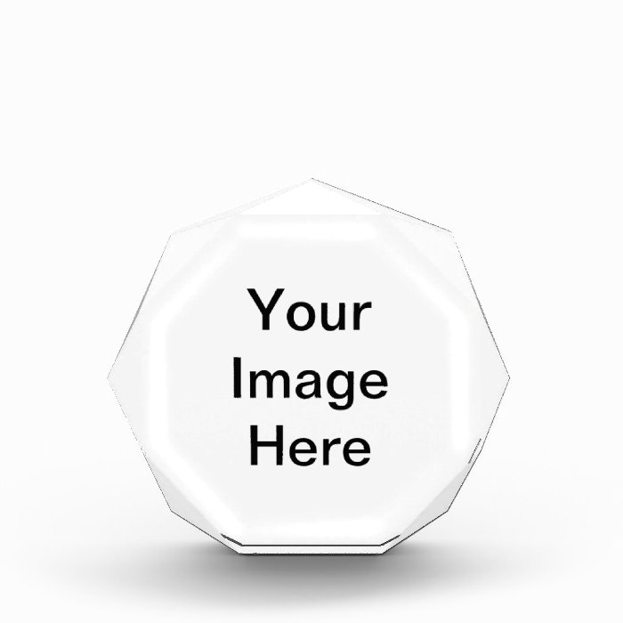Create Your Own Acrylic Octagon Awards Zazzle