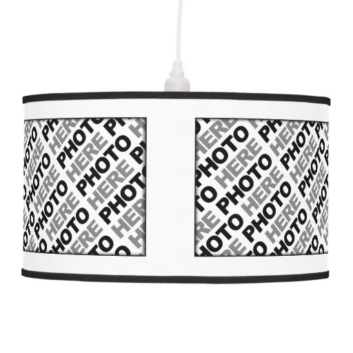 Create Your Own Add 4 Photos Pendant Lamp Zazzle