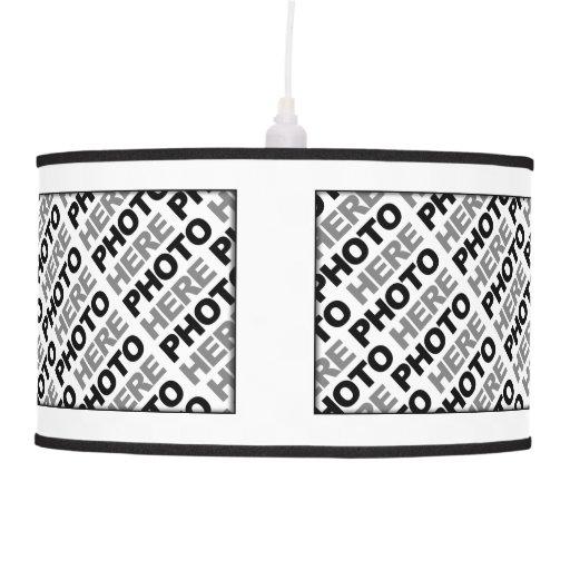 create your own add 4 photos pendant lamp zazzle. Black Bedroom Furniture Sets. Home Design Ideas