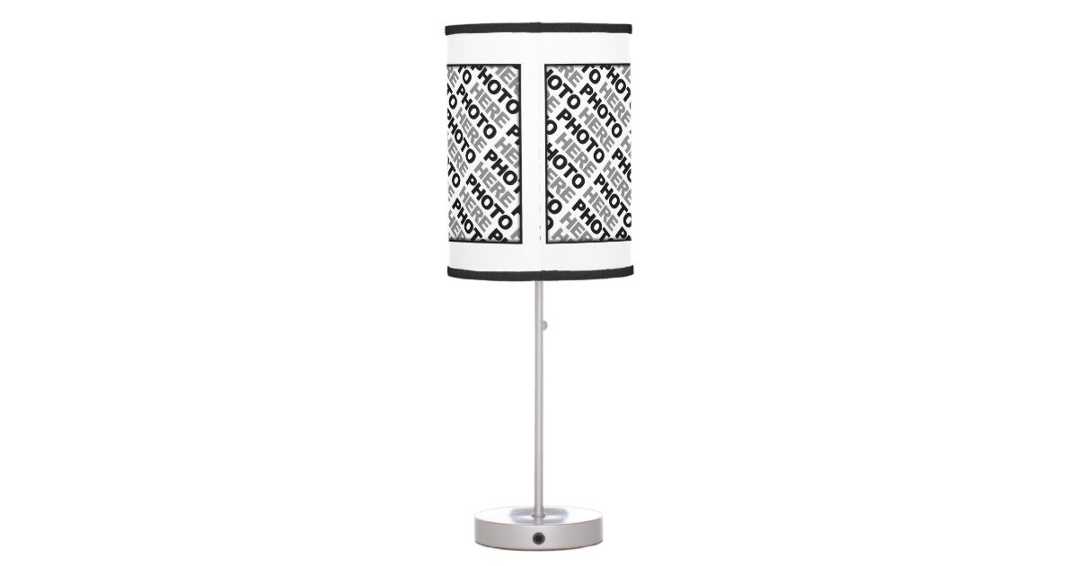 create your own add 4 photos table lamp 1 zazzle. Black Bedroom Furniture Sets. Home Design Ideas
