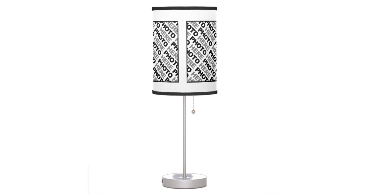 Create Your Own Add 4 Photos Table Lamp 1 Zazzle