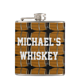 Create Your Own Add Your Name Whiskey Barrel Hip Flask