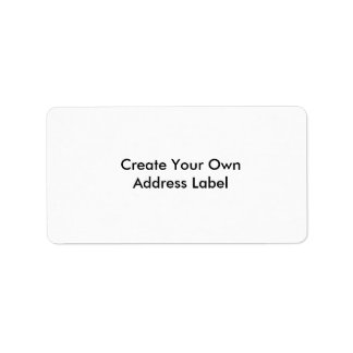 Create Your Own Address Label