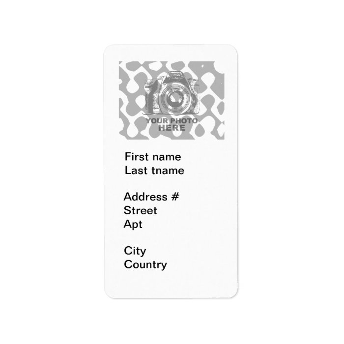 Create Your Own Address Label White Vertical : Zazzle