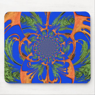 Create your own African sky blue motif Mouse Pad