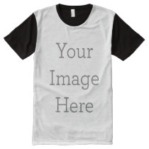 Create Your Own All-Over Printed Panel T-Shirt