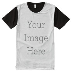 Create Your Own All-over Printed Panel T-shirt at Zazzle