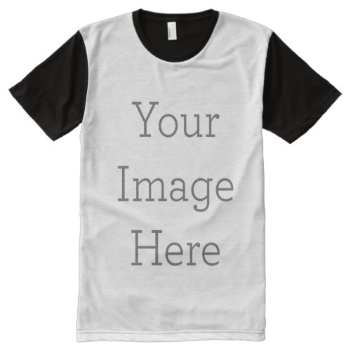 Create Your Own All_Over Printed Panel T_Shirt