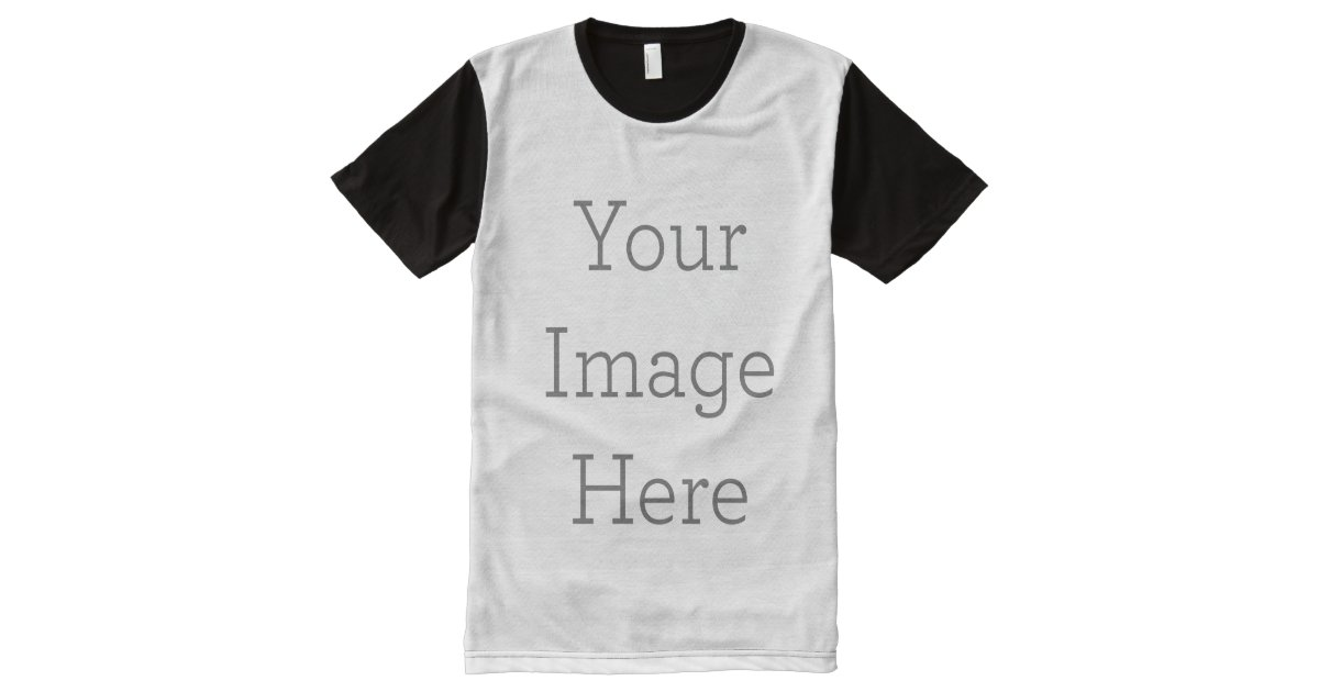 cdf852d0fa Create Your Own All-Over Printed Panel T-Shirt | Zazzle.com