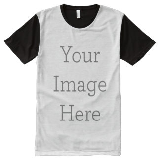 Create Your Own All-Over Printed Panel T-Shirt All-Over Print T-shirt