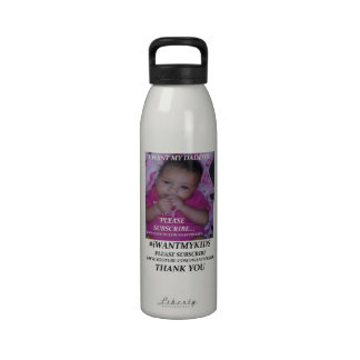 Create Your Own Aluminum Water Bottle 24 oz