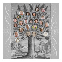 Create Your Own Antique Style Family Tree Poster