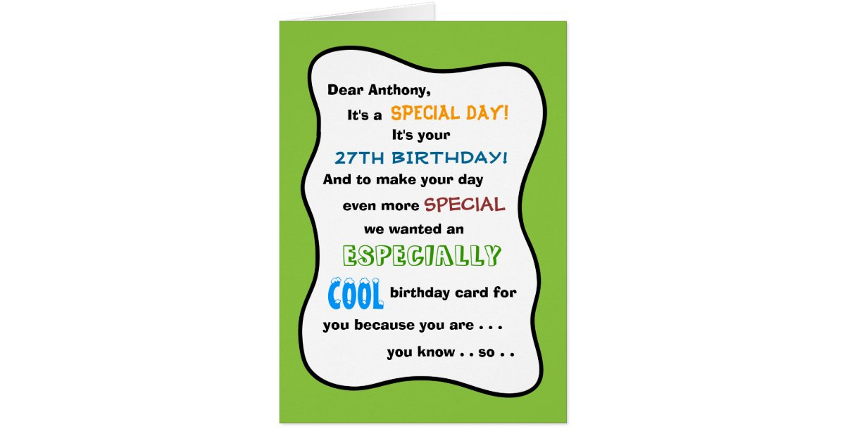 Create Your Own Any Age Funny Birthday Card – Make Your Own Funny Birthday Card