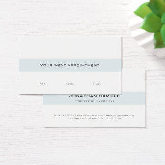 Create Your Own Appointment Reminder Elegant Plain Business Card
