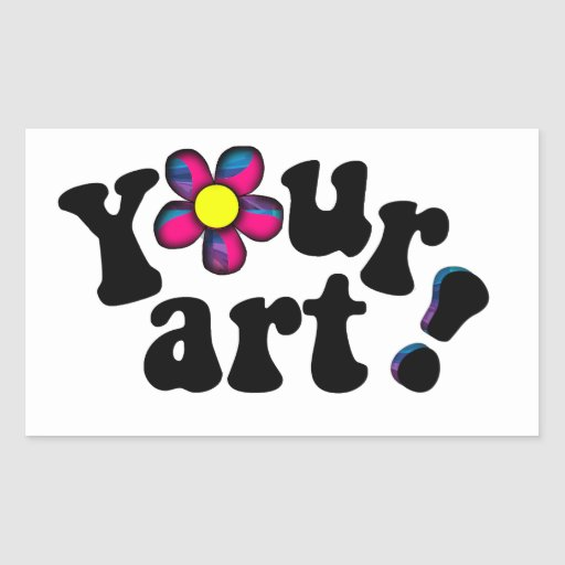 Create your own artistic  bookplate or nametag rectangular sticker