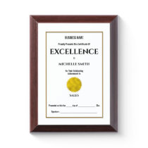 Create your own award certificate | Personalize