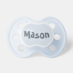 Create Your Own Baby Boy's Name Pacifier at Zazzle