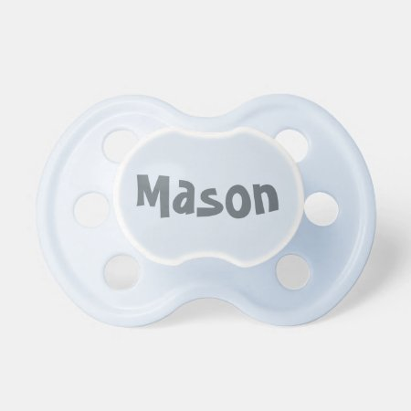 Create Your Own Baby Boy's Name Pacifier