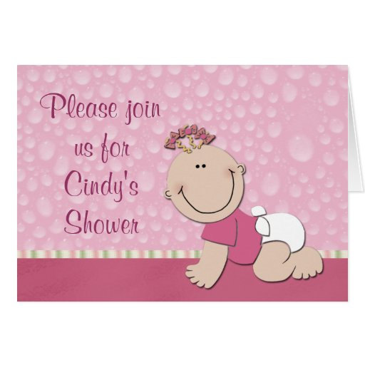 Baby Shower Invitation: Make Your Own Baby Shower Invitations Girl