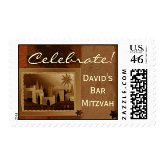 Create your own Bar Mitzvah postage