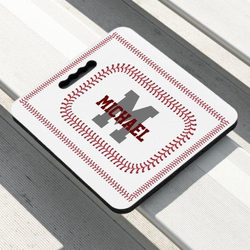 Create Your Own Baseball Game Name Monogram Seat Cushion