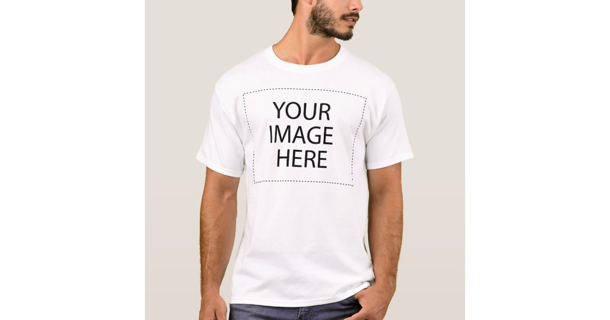 Create your own basic t shirt template zazzle for Design your own t shirt