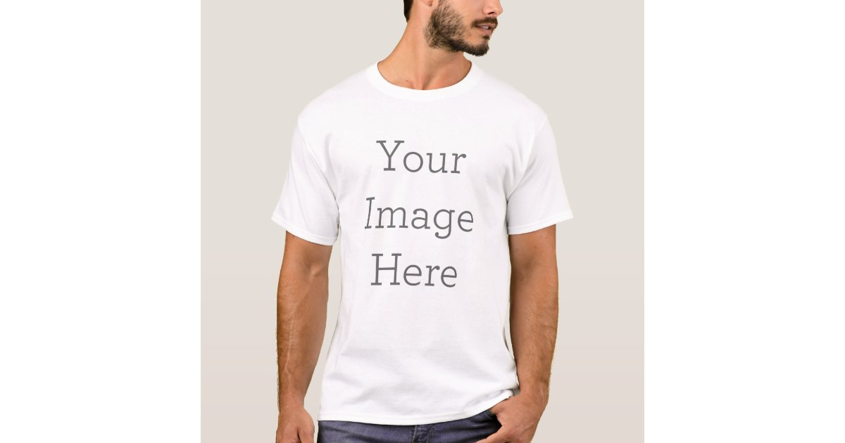 Create your own basic t shirt template Build your own t shirts