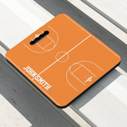 Create Your Own Basketball Game Name Template Seat Cushion