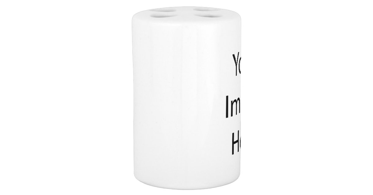 Toothbrush holder and soap dispenser set zazzle for Customize your own bathroom