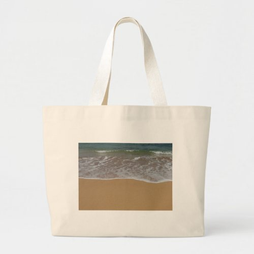 Create your own beach theme large tote bag