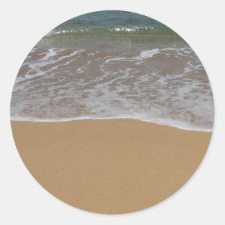 Create your own beach theme round sticker