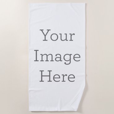 zazzle_templates Create Your Own Beach Towel