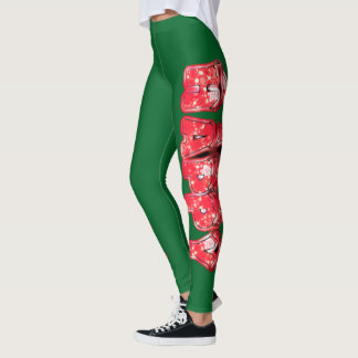 Create your own Beautiful Colorful Happy Holidays Leggings