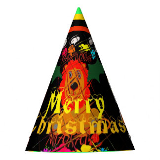 Create your own Beautiful Colorful Merry Christmas Party Hat