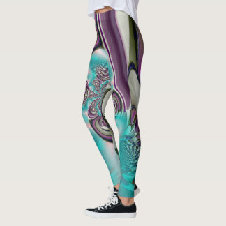 Create your own Beautiful Wedding Clothing Teal Leggings