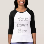 "Create Your Own Bella Canvas 3/4 Sleeve Raglan T-Shirt<br><div class=""desc"">Create your own custom clothing on Zazzle. You can customize this raglan to make it your own. Add your own images,  drawings or designs for some seriously stylish clothing that"
