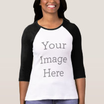 Create Your Own Bella Canvas 3/4 Sleeve Raglan T-Shirt