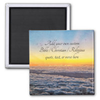 Create your own Bible/Christian/Religious Quote Magnet