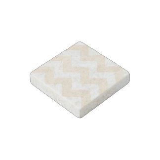 Create Your Own Big Antique White Zigzag Pattern Stone Magnet