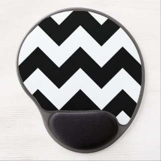 Create Your Own Big Black Zigzag Pattern Gel Mousepads