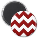 Create Your Own Big Dark Red Zigzag Pattern 2 Inch Round Magnet