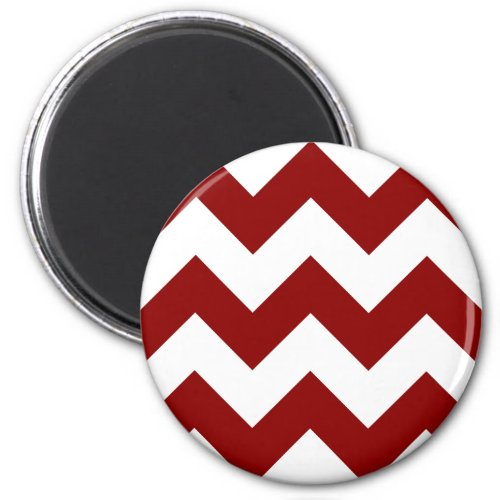 Create Your Own Big Dark Red Zigzag Pattern Magnet